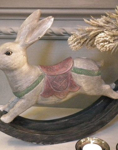 Schommelend konijn bruin