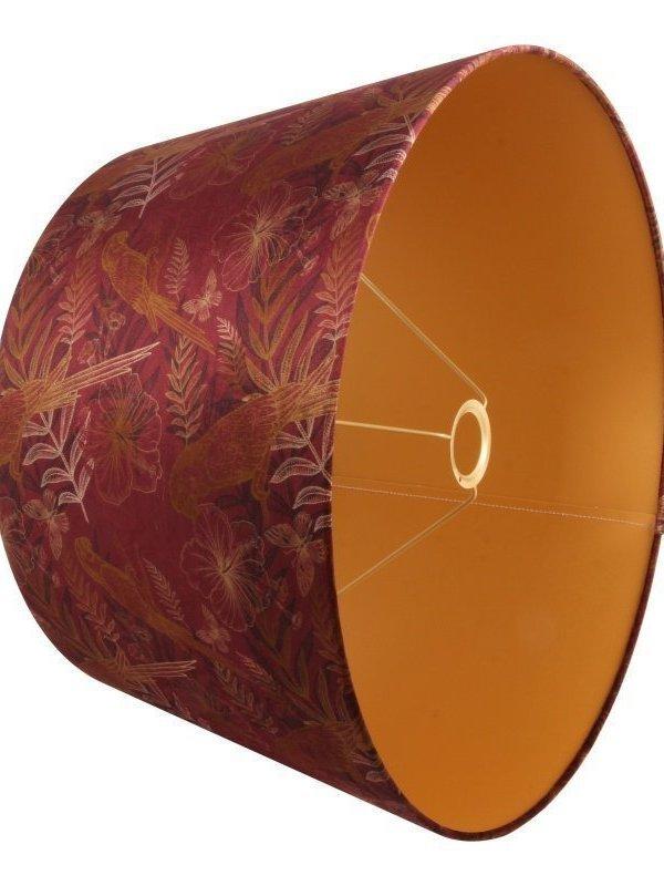 Lampenkap rond 50 cm bordeaux
