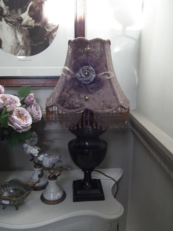 Barok lampenkap rond 29 cm bruin