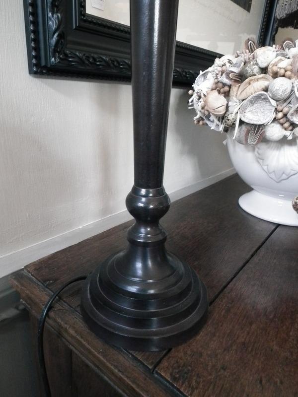 Lampenvoet donker bruin H 52 cm