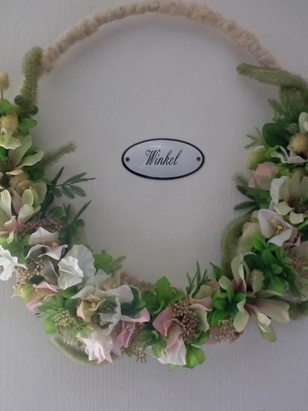 Zijde bloemenring in frisse lente kleuren & bloemen Dia 45 cm