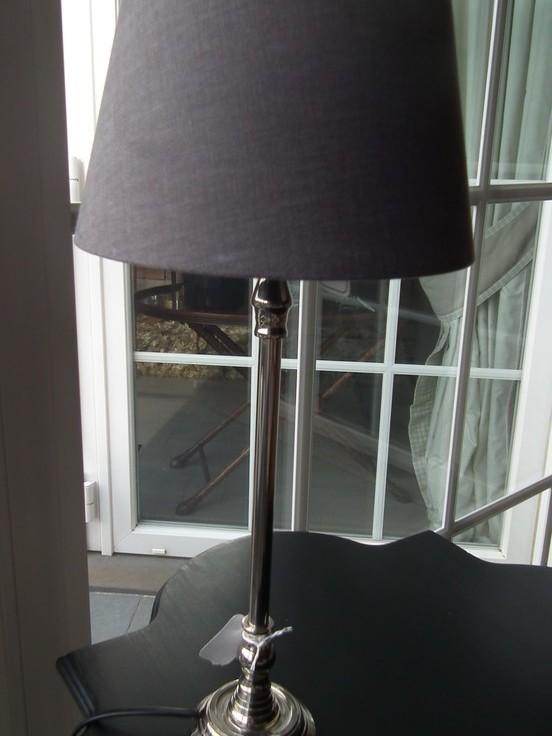 Lampenvoet nikkel H 33 cm