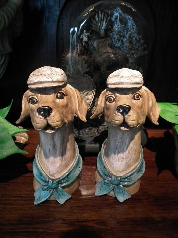 Hond met pet en sjaal