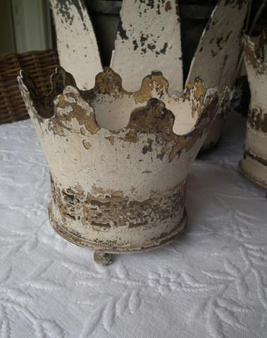 Pot in vorm van kroon H 12 cm