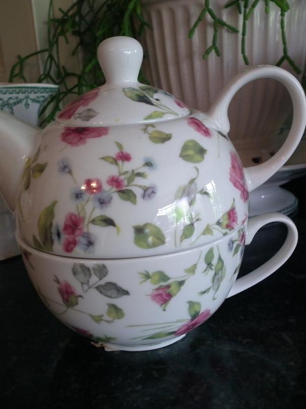 Tea for one bloemenmotief