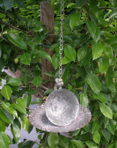 Voeder voor de vogels tas & ondertas om op te hangen