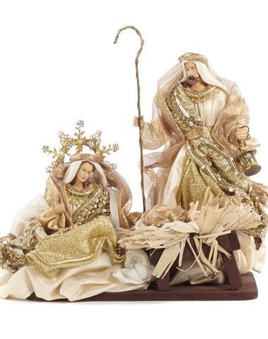 Kerstheiligen beige & goud