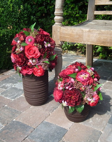 De Binnentuin -  zijde bloemwerk